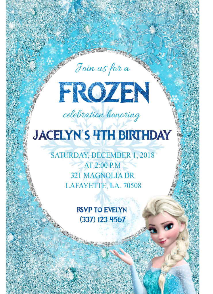 Dynamic image with regard to frozen invite printable